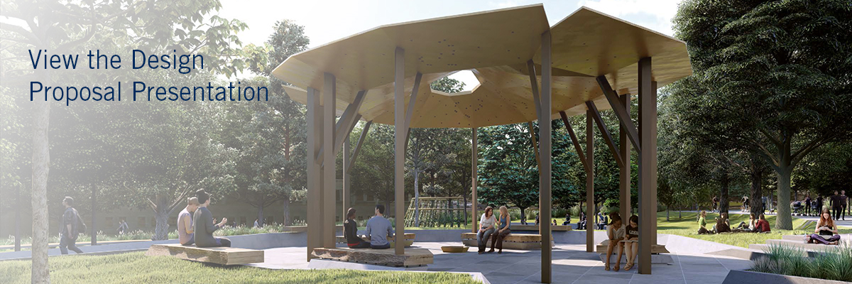 View the Design Proposal, Image of Pavilion in the Landscape
